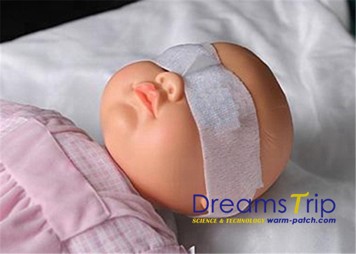 Sterilized White Neonatal Phototherapy Eye Mask For Baby Vision Protection